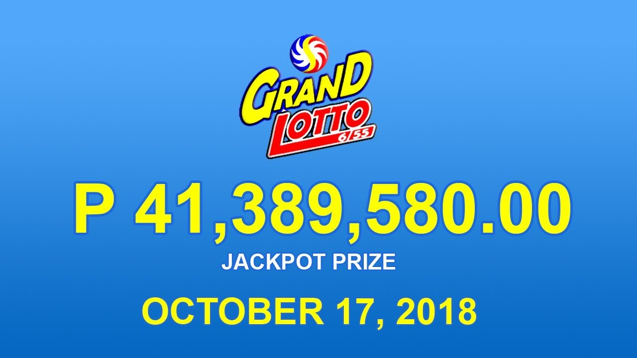 PCSO Grand Lotto 6/55 Result October 17, 2018 - Lotto Results Today - YouTube
