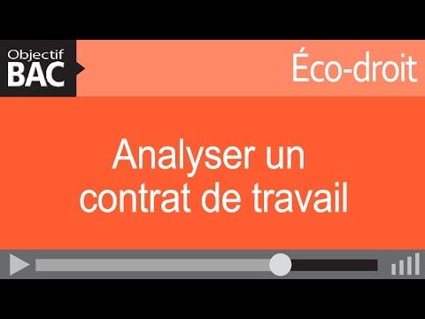 analyser un contrat de travail Éco droit   Analyser un contrat de travail   YouTube analyser un contrat de travail