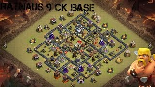 Clash of Clans Th9 cw Base (mit Bombenturm) -ANTI 3 STAR-