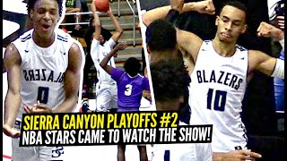 NBA Stars Pulled Up to Sierra Canyon's WILD 2nd Playoff Game!! SC & St Anthony's FIGHT For The Win!!