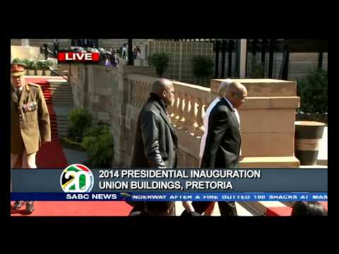 Jacob Zuma's arrival at the Union Building