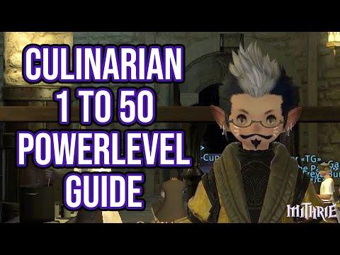 FFXIV 2.55 0588 Culinarian 1-50 (Powerlevel Guide)