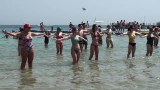 Beautiful girls on the beaches of Egypt
