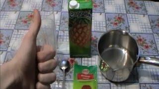 видео Как сделать желе из желатина и сока