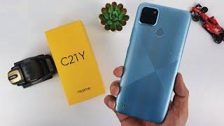Realme C21y Unboxing   Hands-On, Design, Unbox, AnTuTu Benchmark, Camera Test