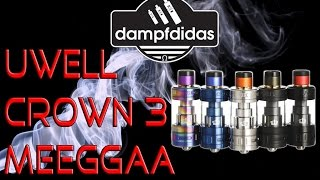 Uwell Crown 3 III Bester Sub Ohm Verdampfer Review Deutsch