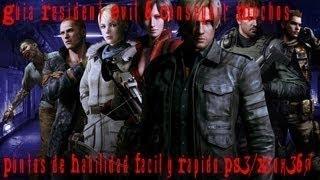 Resident Evil 6 Truco Conseguir Muchos Puntos de Habilidad Facil y Rapido PS3/Xbox360