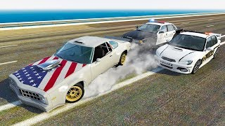 HOONICORN HIGH SPEED POLICE CHASES AND CRASHES! - BeamNG Drive