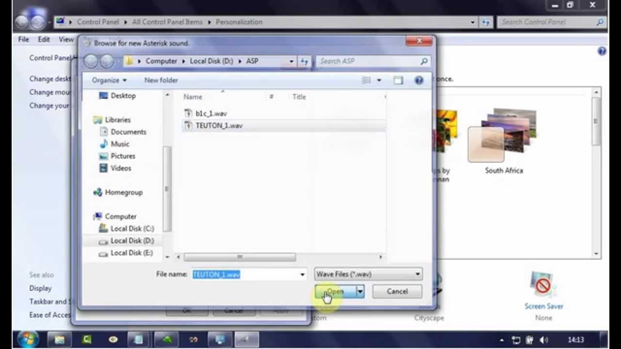 Windows 7 Tips : How to change Asterisk Sound (Program Events)
