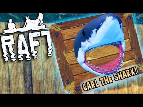 Surviving a SHARK ATTACK! - Raft Gameplay Multiplayer Part 2 - Ocean Survival Game
