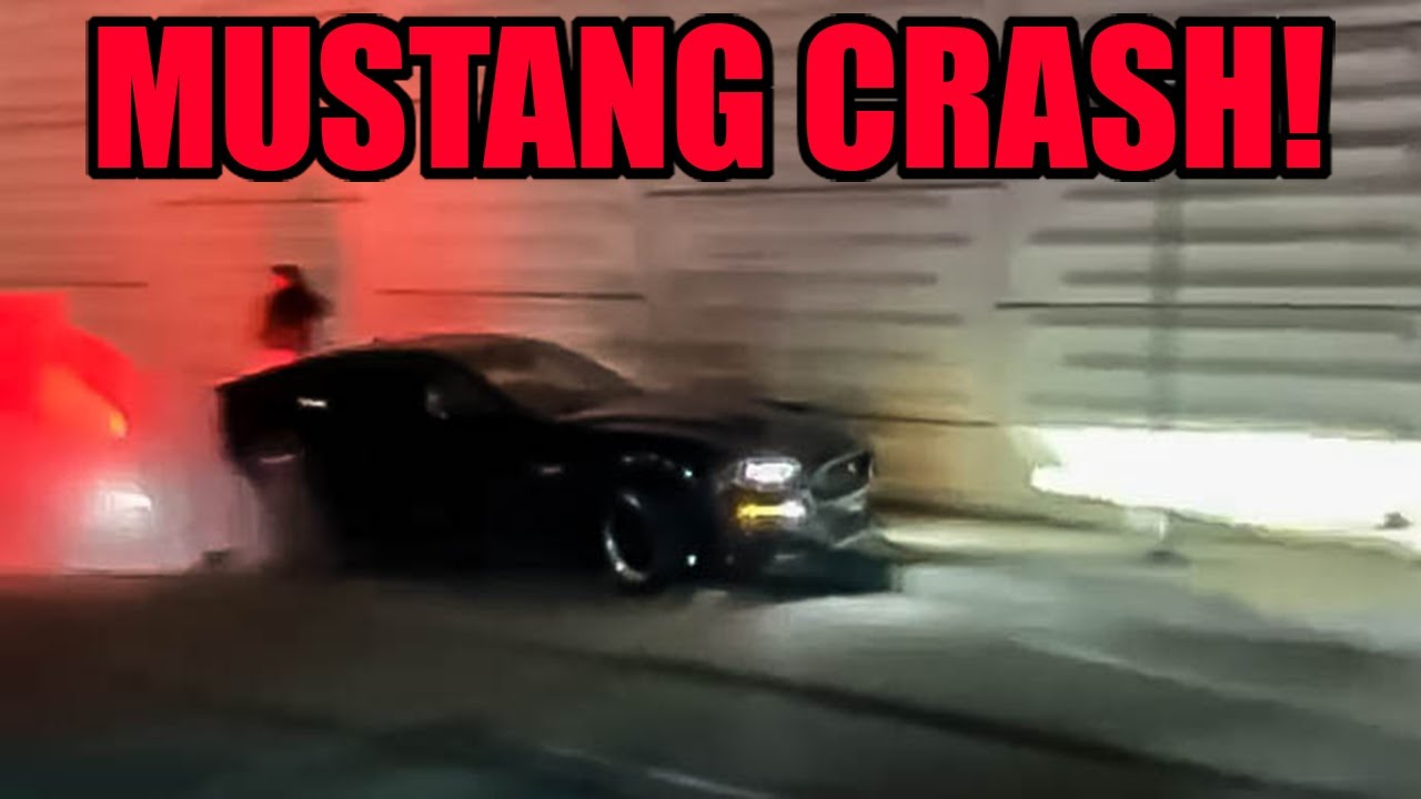 MUSTANG CRASHES and a TRUCK RUNS FROM POLICE at a CAR MEET!!!