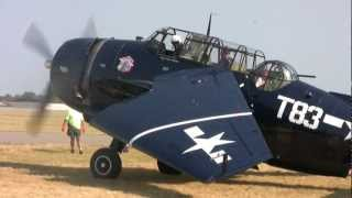 GRUMMAN AVENGER Lands and Folds Wings at Air Expo