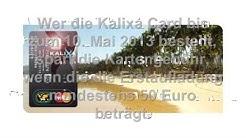 Kalixa Card Prepaid MasterCard jetzt kostenlos bestellen