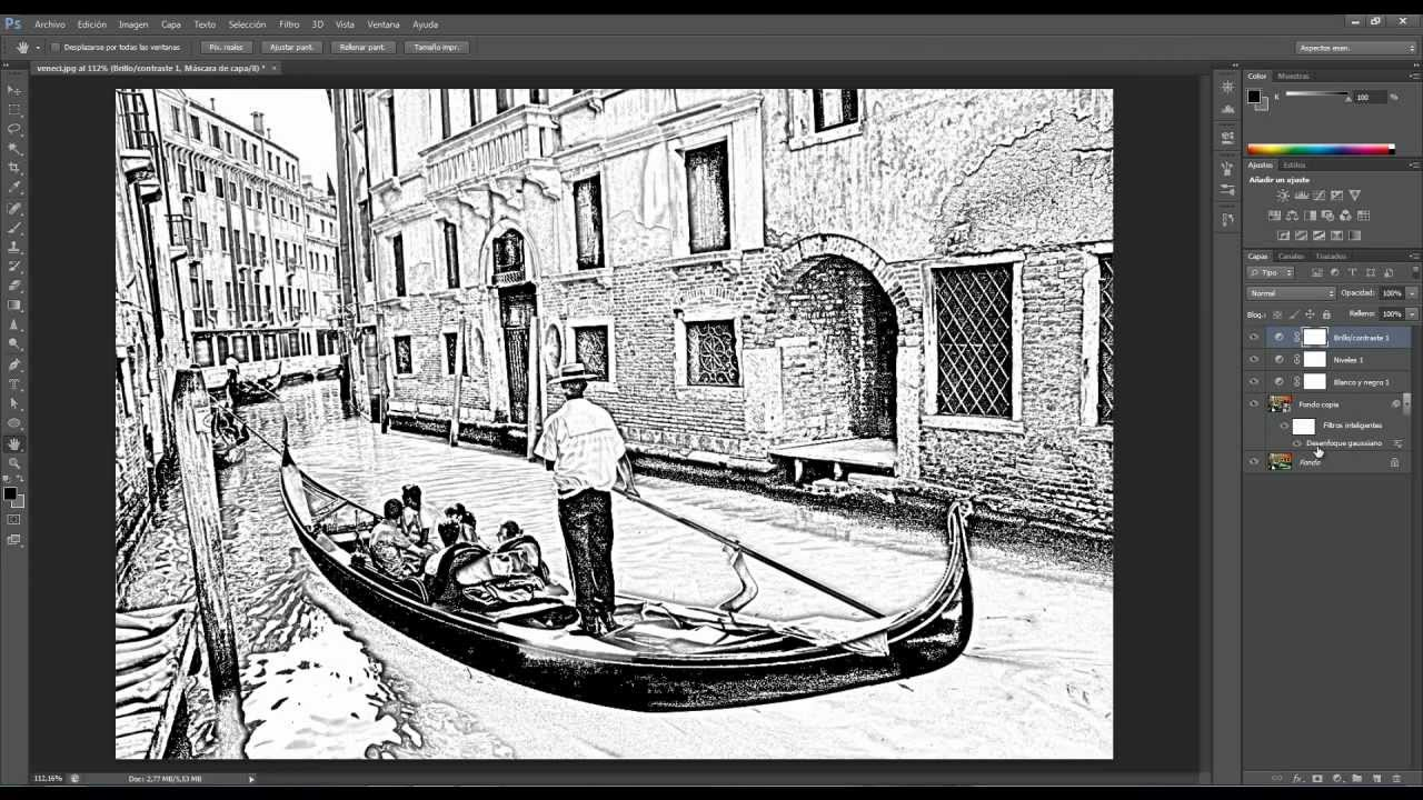 Dibujos Para Photoshop: Tutorial Photoshop. Fotografías A Dibujo.