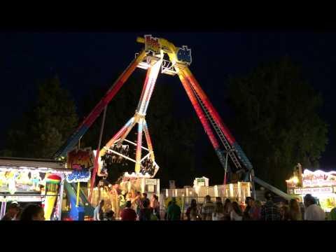 Freak Out ride (Night) Allen County Fair