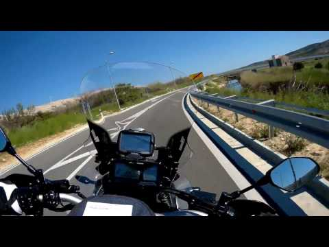 Motorcycling Island Pag with Yamaha Super Tenere