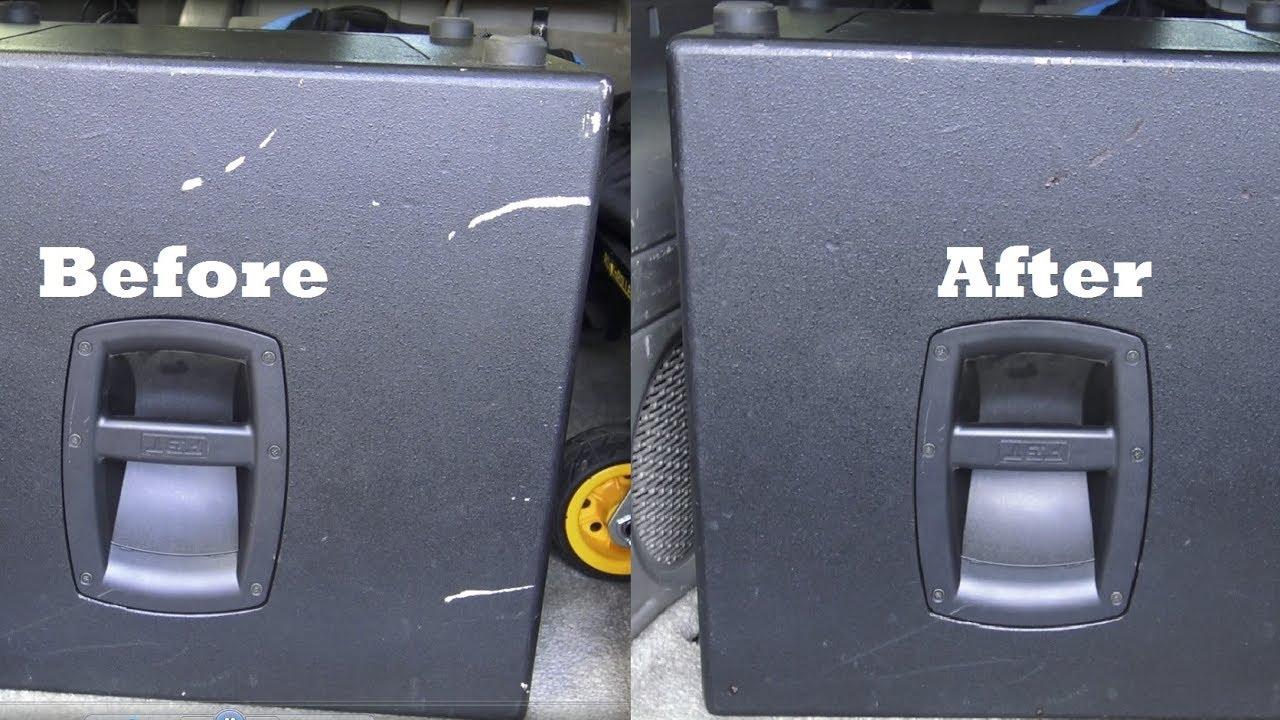 DJ Help - Quick Wood Speaker Cabinet Scratch Repair With a Sharpie ...