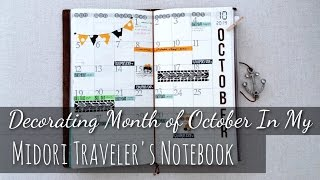 Decorating Month of October In My Midori Traveler