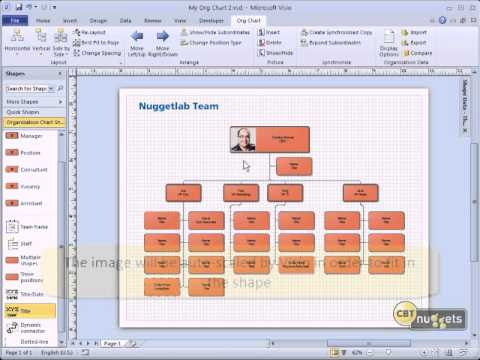 Microsoft Visio 2010 Tutoial for IT Professionals- 05(Creating an Organizational Chart)