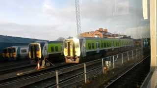 Irish Rail Train A782 Departing Limerick for Galway on Tuesday, 1st January, 2012