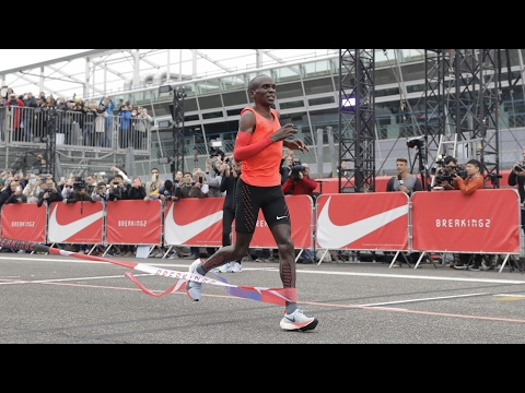Eliud Kipchoge misses sub two-hour marathon by 26 seconds – video highlights