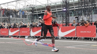 The Olympic marathon champion comes within 26 seconds of running a sub two-hour marathon at the Monza F1 track. Despite his best efforts, the Kenyan ...