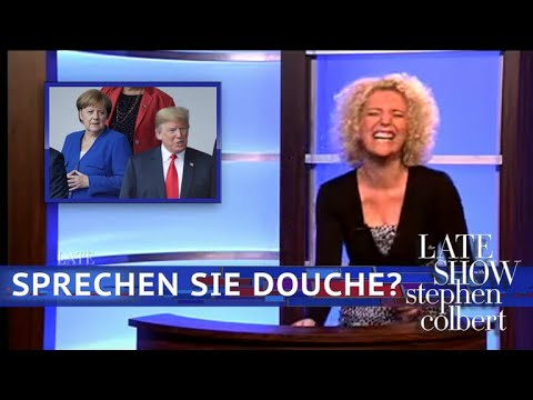 Stephen Colbert vs. How German News Covered Trump's NATO Visit