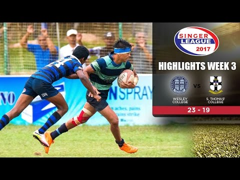 Highlights - Wesley College vs S.Thomas' College - Schools Rugby 2017