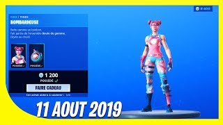 "FORTNITE BOUTIQUE of August 11, 2019! New SKIN ""Bombardeuse"""
