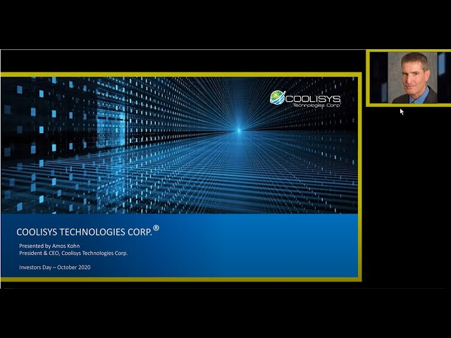 DPW's Second Annual Investor Conference 2020 Coolisys Technologies Corp Presentation