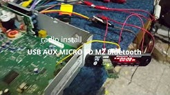 USB AUX MICRO SD M2 Bluetooth. radio install.  car radio Audi concert
