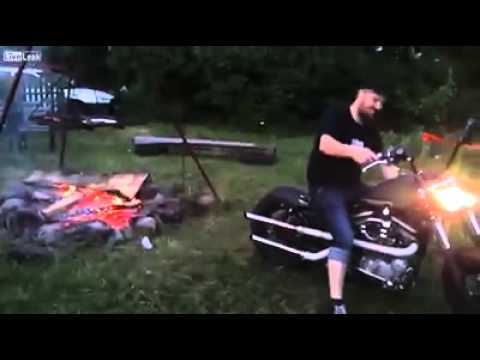 Make fire with bike