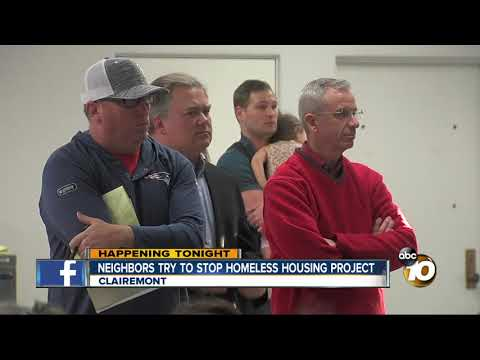 Neighbors try to stop homeless housing project
