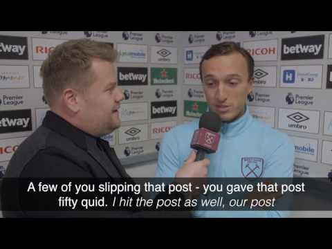 Mark Noble Post-Match Interview With James Corden!