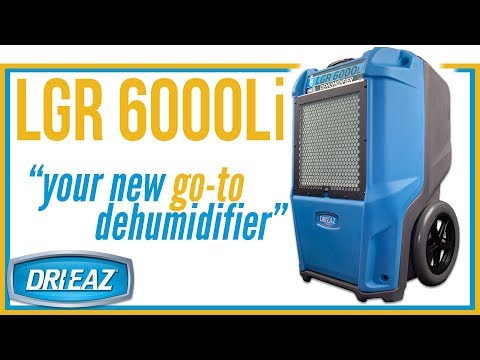 Dri-Eaz LGR 6000Li Dehumidifier – Best-ever for performance, portability and ROI