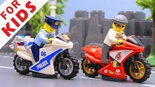 LEGO Police сhase Compilation. Lego Stop Motion Animation