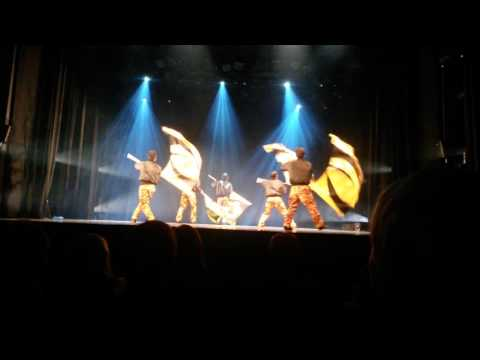 Colour guard circle Luster Japan Week Helsinki Finland at Savoy Theater 22.10.2015 part 4 of 5