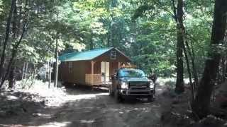 14x36 cabin delivery www.ShawneeStructures.com