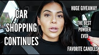 THE CAR SHOPPING CONTINUES, FAV CANDLES + GIVEAWAY!   JuicyJas