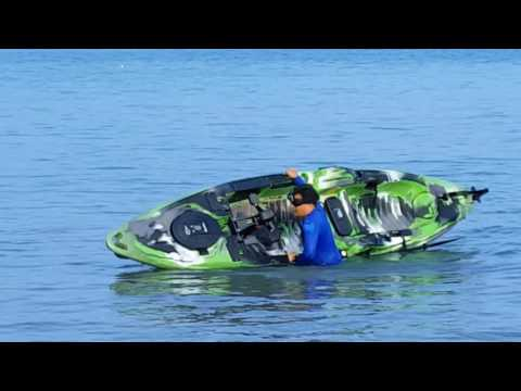 Predator PDL Kayak ocean test (mobility,stability and flipping test)