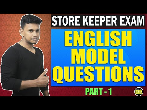 Store Keeper Exam 2018 - English Model Questions -Kerala PSC -Part 1