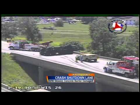 I-39/90 crash caused by vehicle stopped on ramp, officials