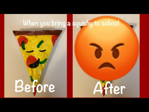 What happens when you bring a paper squishy to school | Kawaii Jewel |