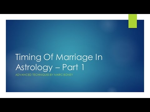 Timing Of Marriage Part 1 By Marc Boney