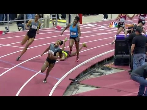 Floyd wins US Women's 400m Indoor title after Wineberg falls - Universal Sports