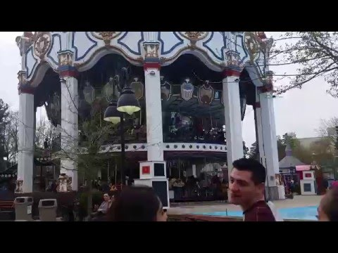 Six Flags Great America 2016 Opening Weekend Walkthrough Part 1/9 | 4-24-16