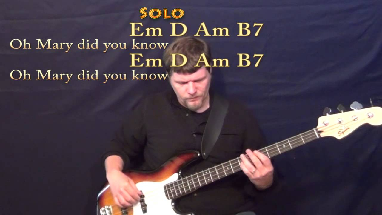 Mary Did You Know (CHRISTMAS) Bass Guitar Cover Lesson in Em with Chords/Lyrics - YouTube