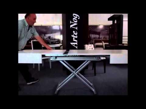 Mesa de centro convertible a mesa de comedor extensible - YouTube