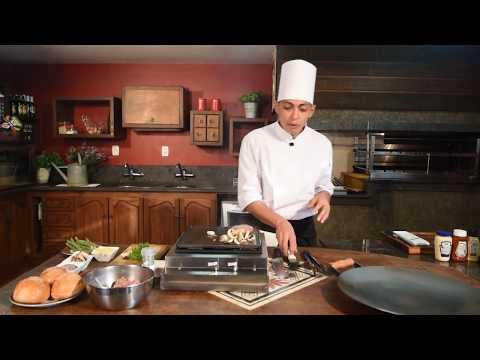 Receitas Gourmet - Hambúrguer Gourmet na chapa