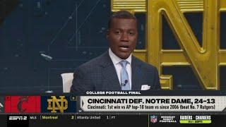 College Football Final Joey Galloway incredible Cincinnati def Notre Dame 24 13 NCAAF Week 5